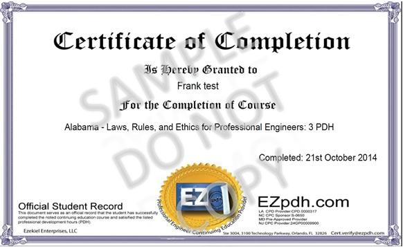 Certificate Sample1 Jpg Ez Pdh Com